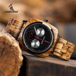 Handmade Quartz show Date Week Wood Watches