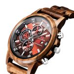 Date Round Shape Dial Sport Vintage Luxury Wood Watches