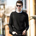 Basic Pullover Slim Fit Long Sleeve Sweaters