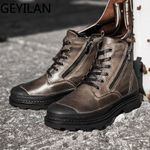 Fashion outdoor Natural Genuine Leather Boots
