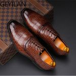 Crocodile Luxury Flat Oxford Shoes
