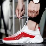 Running Fashion Mesh Lace-Up Lightweight Shoes