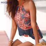 Floral Vintage Strappy Sleeveless Boho Bohemian Tops