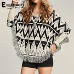 Tassels Knitted Thick Ethnic Loose Warm Boho Sweater