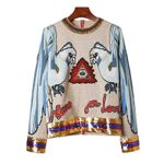 Appliqued sequin embellished knitted Boho Sweaters