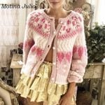 Sexy cute knitted outerwear Boho Sweaters