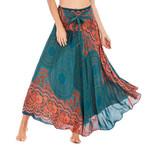 Fashion Long Hippie Gypsy Flowers Elastic Waist Boho Bohemian Skirts