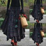 Plaid Punk Goth Casual Boho Bohemian Skirts
