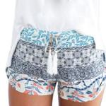 Sexy Print Casual High Waist Loose Boho Bohemian Shorts
