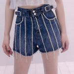 Sexy High Waist Chain Boho Bohemian Shorts