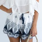 Simple color print Lace Embroidery Boho Bohemian Shorts