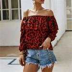 Fashion Leopard Print Elegant Blouses
