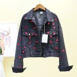 Fashion Popular Single Breasted High Quality Denim Jacket