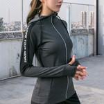Sport Thumb Holes Reflective Zipper Jacket