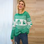Knitted clothes fashion Stitching loose sweater