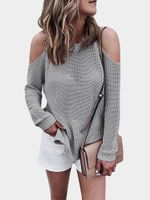 Loose Long Sleeve Knitted Pullover Sweater