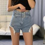 Fashion Tassel High Waist Sexy Mini Short Denim