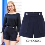 High Waist Solid Soft Casual Shorts