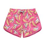 Sexy Banana Pattern Thin Belt Quick-drying Shorts