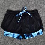 Print Elastic Waist Sports Shorts