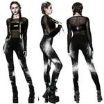 Gothic Style Stretch Elastic Goth High Waist Leggings