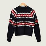 Round Neck Famous Style Wind Jacquard Wool Sweater