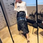 Floral Print Ethnic Pleated Skirt