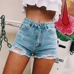 Fashion High Waisted Skinny Slim Denim Shorts