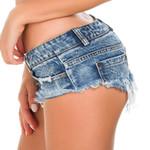 Mini Low Waist Bermudas Micro Short Jeans