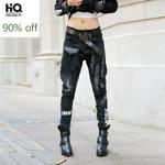 Motocycle Punk Harem Vintage Retro Slim Fit Multi Pockets Pants