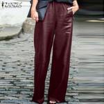 Fashion PU Leather Wide Leg Pants