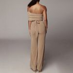 Off Shoulder Lace Up Sexy Skinny Fashion High Waist Jumpsuit
