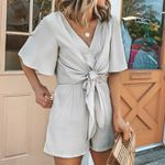 Casual Solid color V-neck sexy Rompers