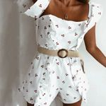 Sexy Coveralls slim printed ruffles Rompers