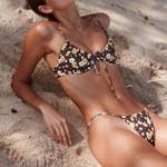 Sexy Floral Black Bathing High Waist Bikini