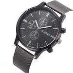 Luxury Geneva Dial Simple Mesh Strap Watches