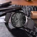 Classic Style Fashion Dial Luxury Mesh Belt Strap Watches