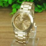 Stainless Steel Dial Anlogy Quartz Wristwatch