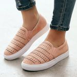 Solid Color Casual Hollow-Out Flat shoes