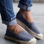 thick bottom canvas casual breathable shallow mouth flat shoes
