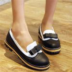 Bow Comfortable Slip on Vintage Flat Shoes