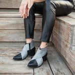 PU Leather Ankle Wedges Platform Boots