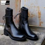 High Top Genuine Leather Ankle Boots