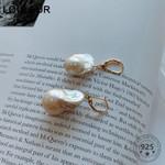 Irregular Baroque Pearl Drop Earrings