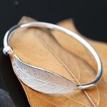 Sterling Silver Leaf Charm Bracelets
