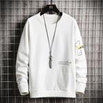 pocket pullover Solid  Streetwear Casual Sweatshirt
