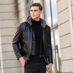 sheepskin genuine leather jacket