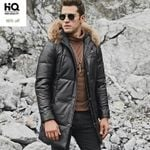 Raccoon Fur Collar Genuine Leather Jackets