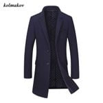 Boutique Woolen High Quality Solid Single Breasted Coat