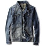 Casual Solid Zipper Denim Jackets